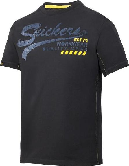 cb43c90b Snickers T-skjorte 2507 Sort Str: XXL U